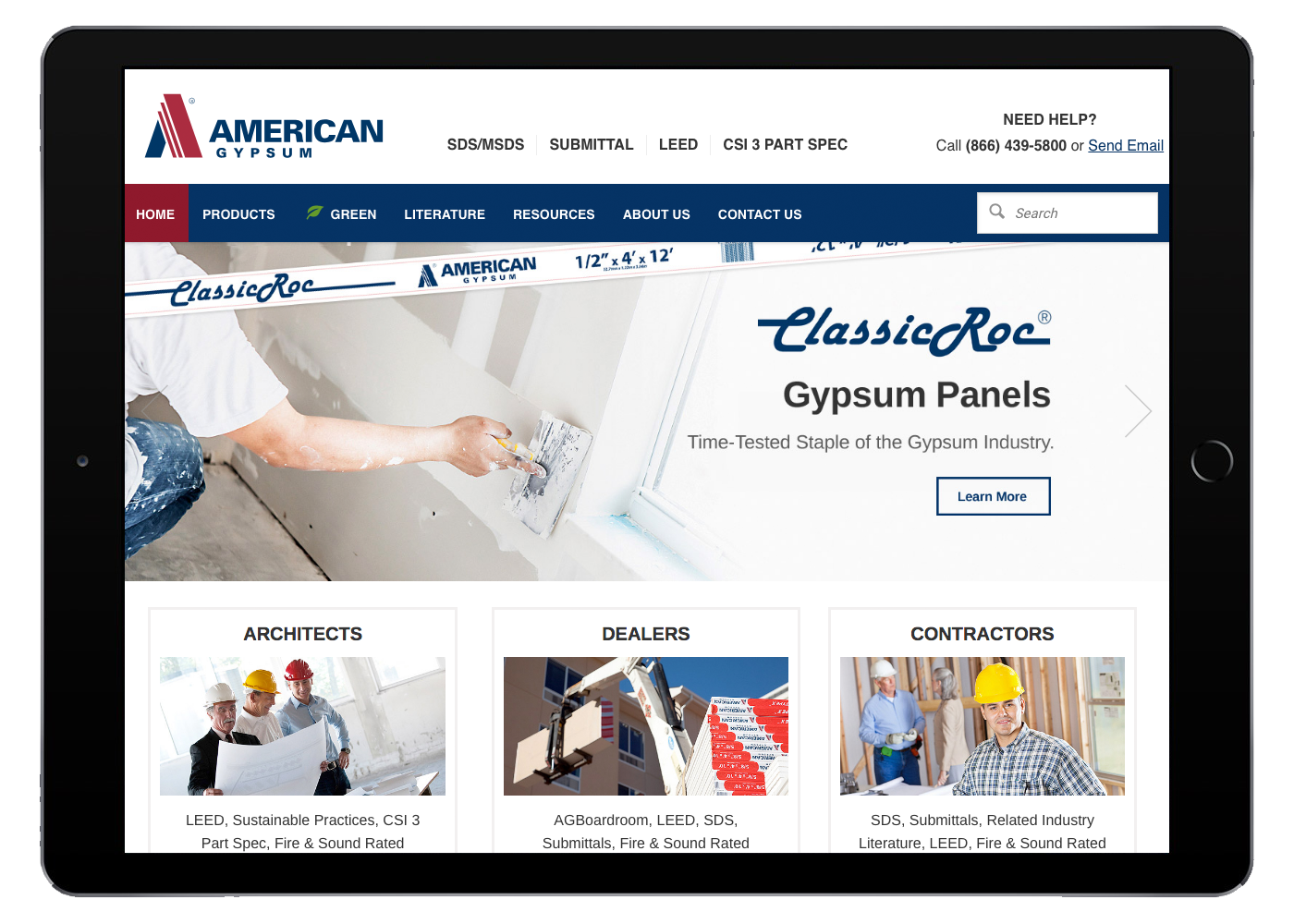 American Gypsum Tablet