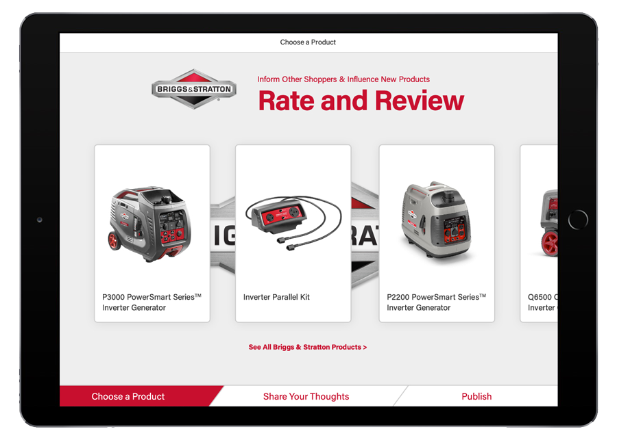 Briggs Customer Review Homepage App