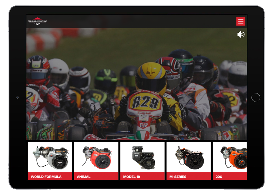 Briggs and Stratton Racing Homepage iPad