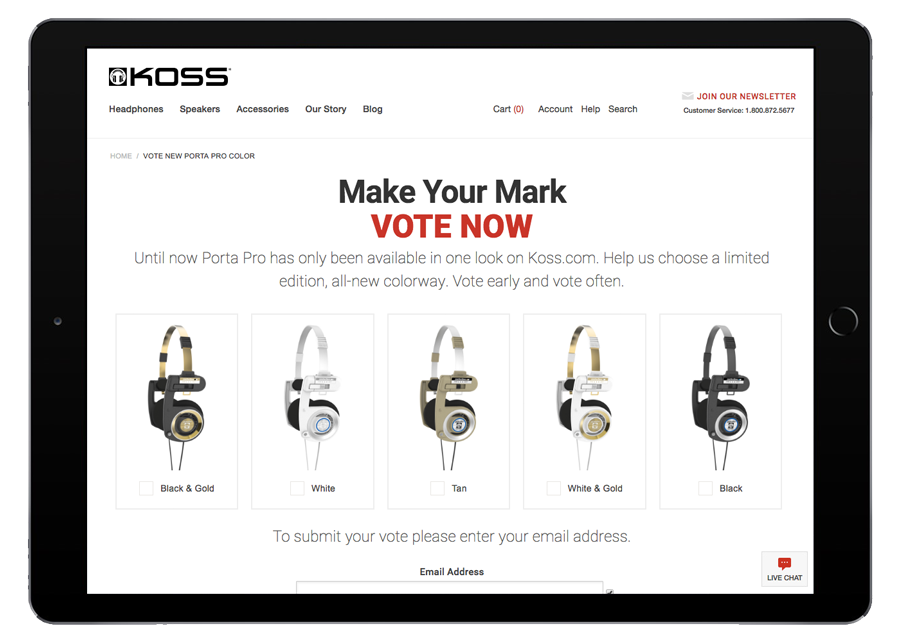 Koss Headphones Porta Pro Vote iPad