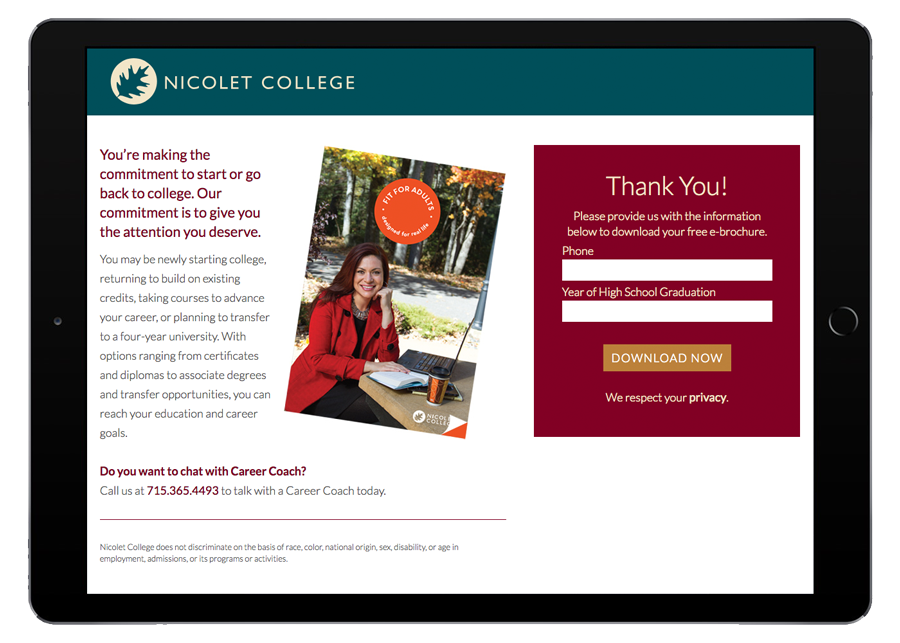 Nicolet College Tablet