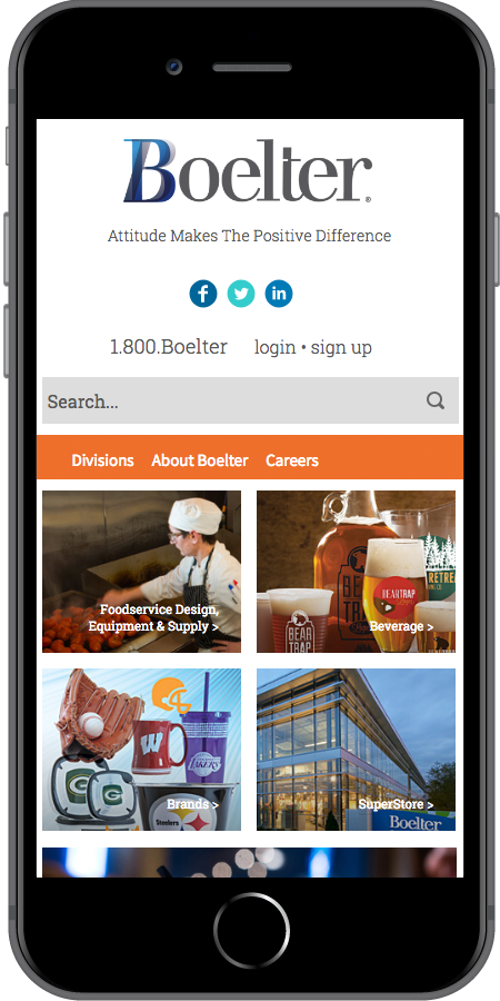 Boelter Companies Homepage Mobile