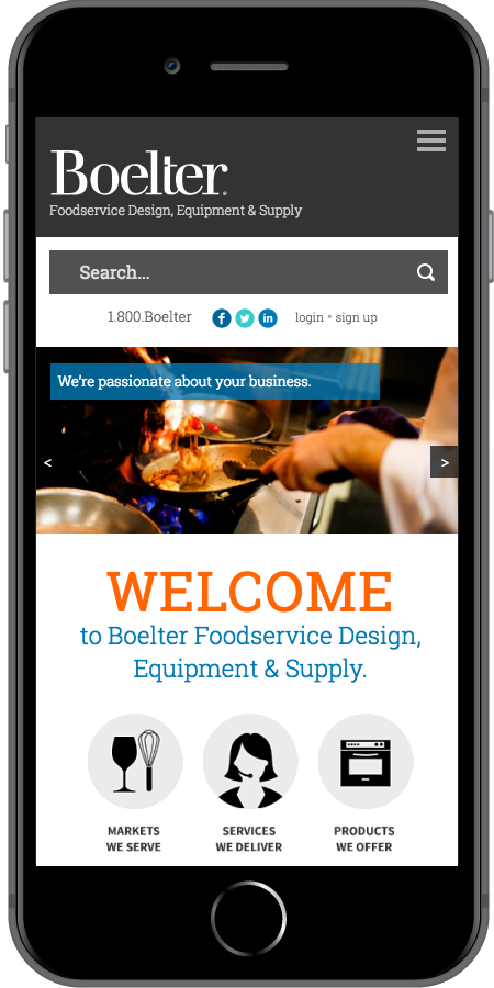 Boelter Companies Foodservice Mobile