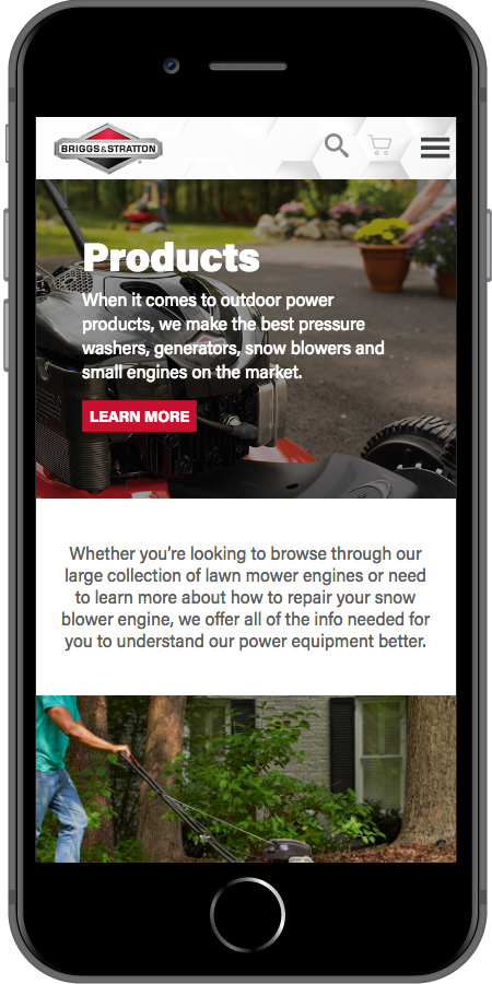 Briggs and Stratton Products Mobile3