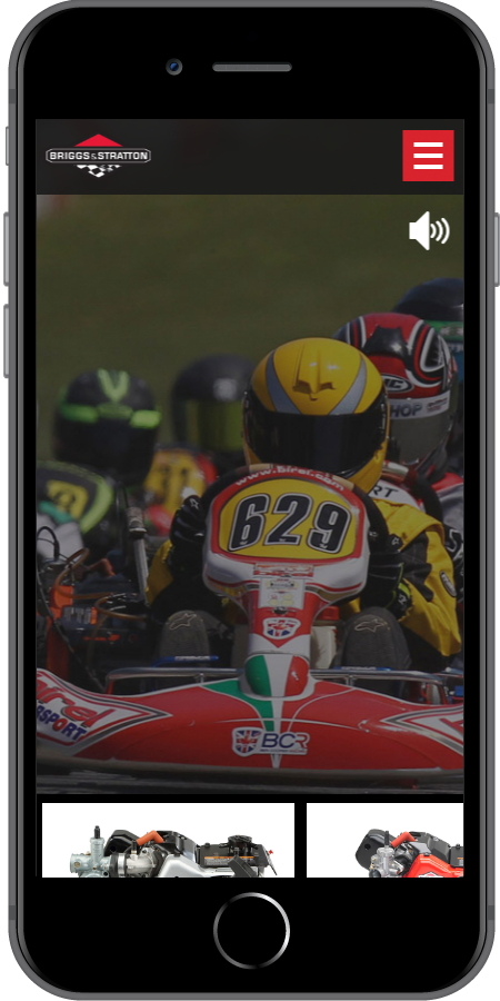 Briggs and Stratton Racing Homepage Mobile