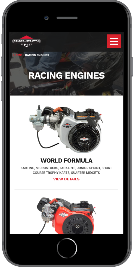 Briggs and Stratton Racing Engines Mobile