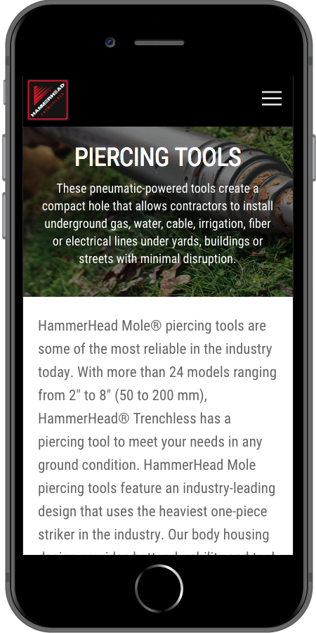 HammerHead Trenchless Tools Mobile