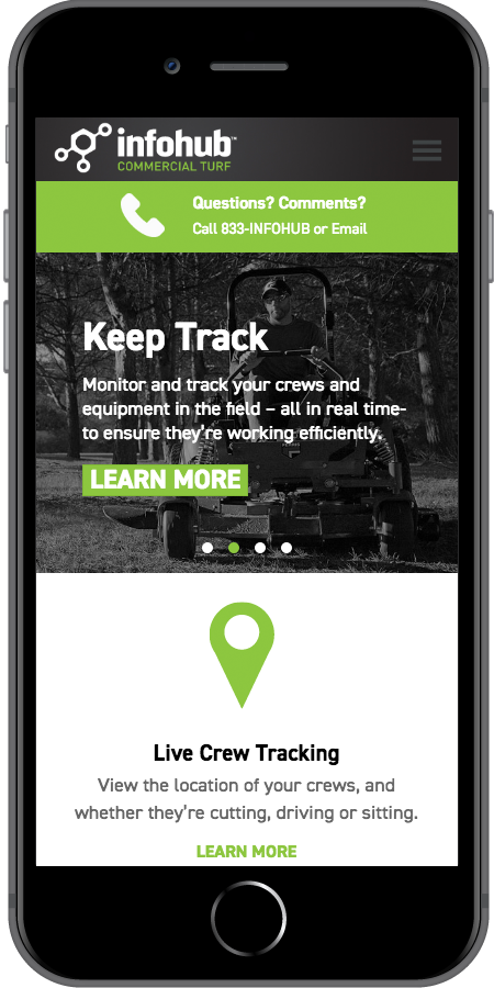 InfoHub by Briggs and Stratton Homepage Mobile