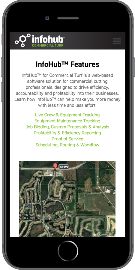 InfoHub by Briggs and Stratton Features Mobile