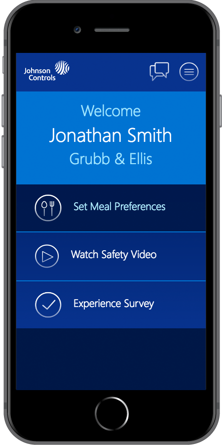 Johnson Controls Homepage Mobile