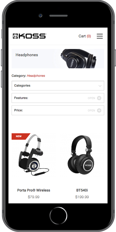 Koss Headphones Products iPhone