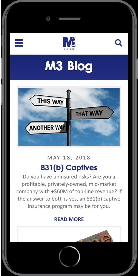 M3 Insurance Blog Mobile