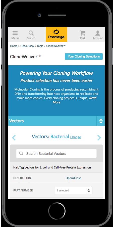 Promega App Vectors Mobile