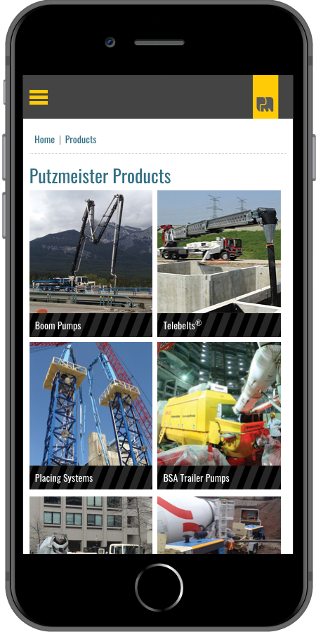 Putzmeister Product Mobile