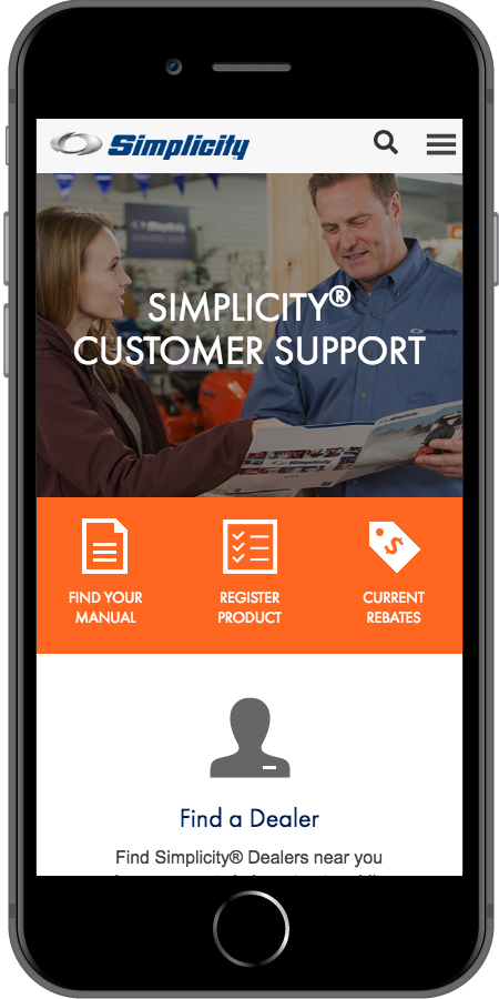 Simplicity Customer Support Mobile