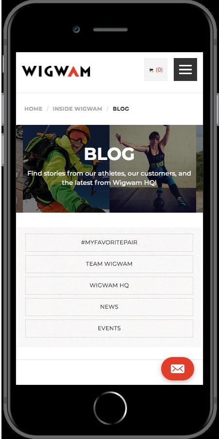 Wigwam Blog Mobile