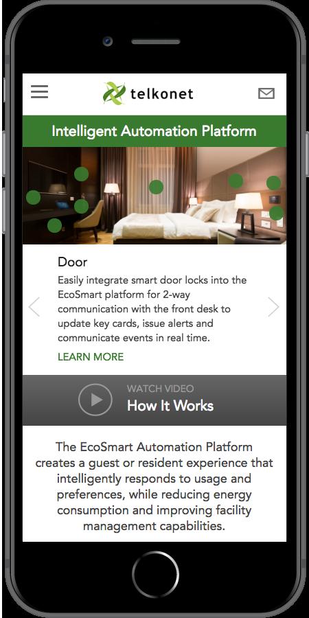 Telkonet Mobile Homepage