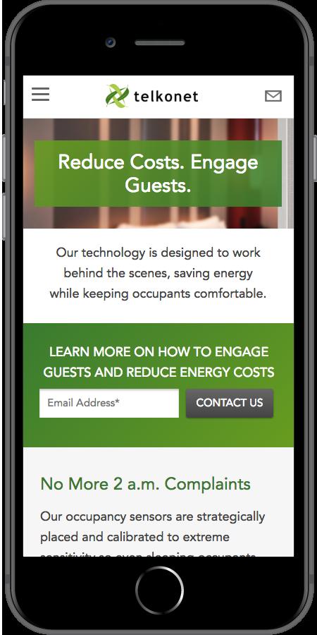 Telkonet Mobile Reduce Energy