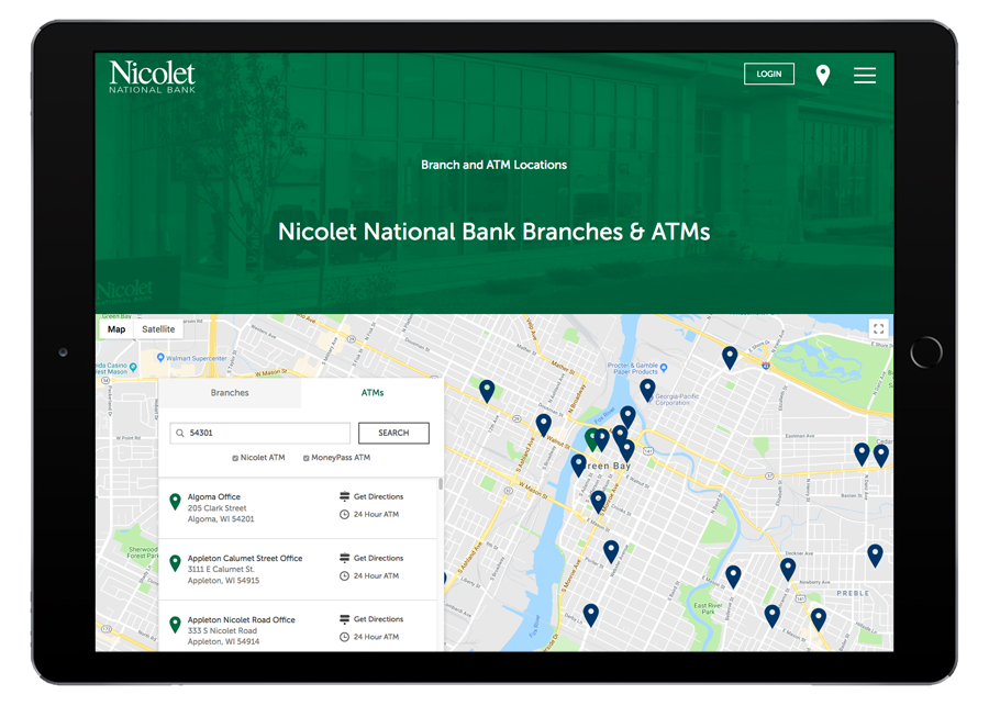 Nicolet National Bank Tablet