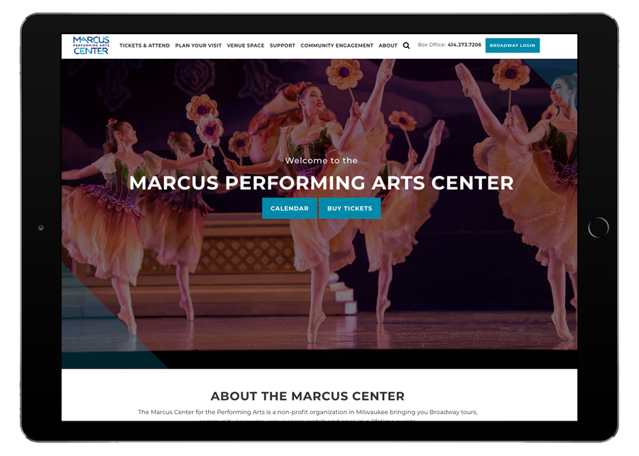 Marcus Performing Arts Center Tablet