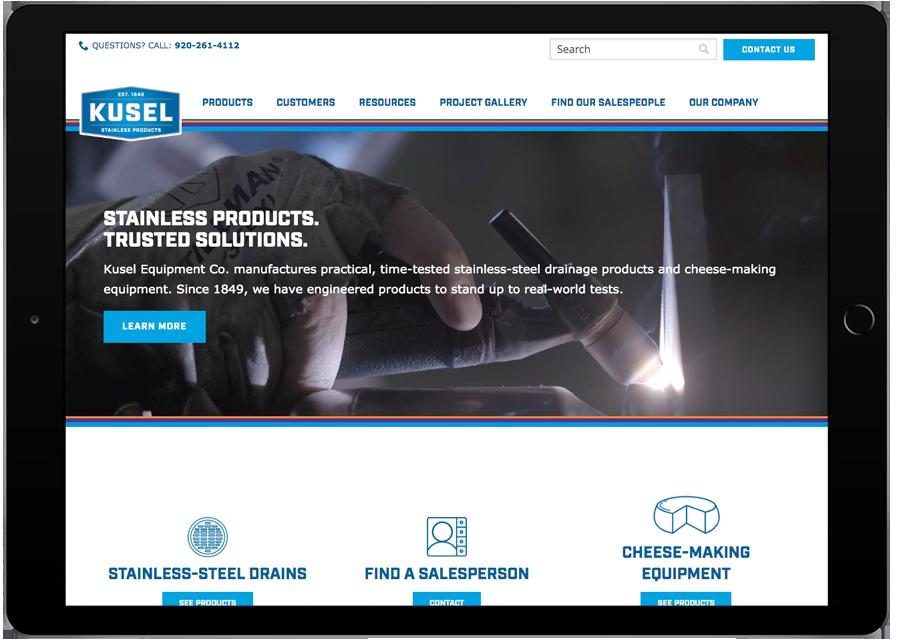 Kusel Equipment Co. Tablet