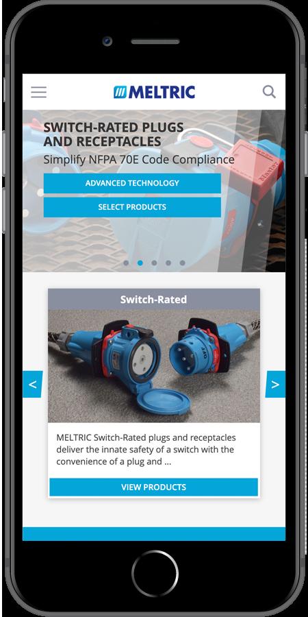 Meltric Homepage mobile screenshot